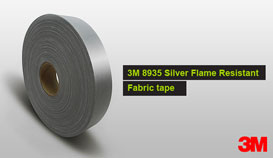 3M 8935 silver Flame Retardant Fabric Tape