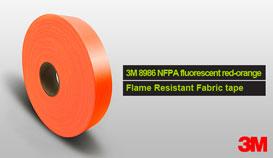 3M 8986 red-orange Flame Retardant Fabric Tape