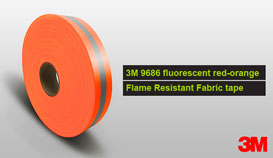 3M 9686 lime-yellow Flame Retardant Fabric Tape