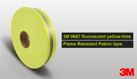 3M 9687 lime-yellow Flame Retardant Fabric Tape