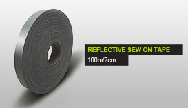 REFLECTIVE SEW ON TAPE 100m/2cm