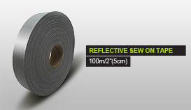 REFLECTIVE SEW ON TAPE 10m/2''(5cm)