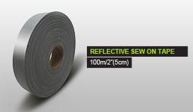 REFLECTIVE SEW ON TAPE 10m/2''(5cm)