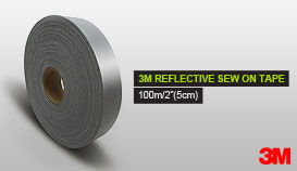 3M REFLECTIVE SEW ON TAPE 100m/2''(5cm)